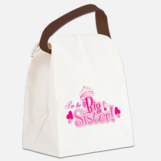 Curly Im The Big Sister Canvas Lunch Bag