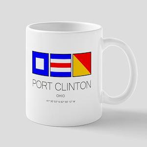 Port Clinton Nautical Flag Art Mugs