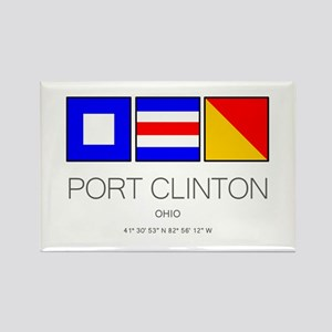 Port Clinton Nautical Flag Art Magnets