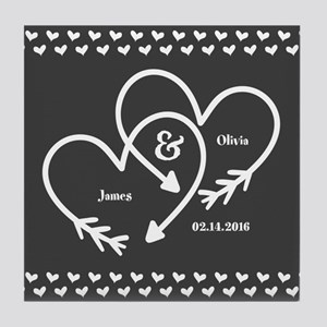 Mr. and Mrs. Wedding Customizable Gra Tile Coaster