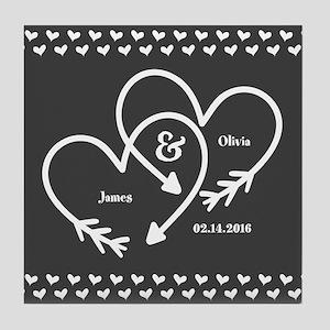 Mr. and Mrs. Wedding Customizable Gra Tile Coaster