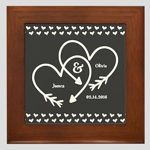Mr. and Mrs. Wedding Customizable Gray Framed Tile