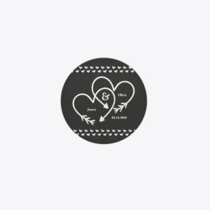 Mr. and Mrs. Wedding Customizable Gray Mini Button