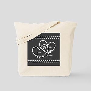 Mr. and Mrs. Wedding Customizable Gray He Tote Bag
