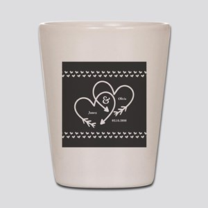 Mr. and Mrs. Wedding Customizable Gray Shot Glass