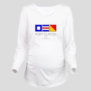 Port Clinton Nautica Long Sleeve Maternity T-Shirt