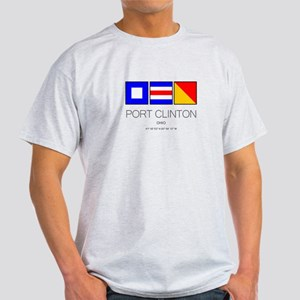 Port Clinton Nautical Flag Art T-Shirt