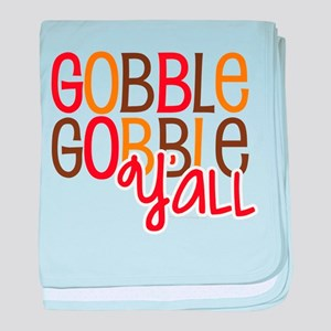 Gobble Gobble Y'all baby blanket