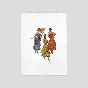 Vintage Dresses Of Twenties 5'x7'area Rug