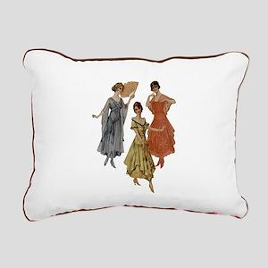 Vintage Dresses Of Rectangular Canvas Pillow