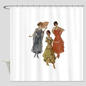 Vintage dresses of twenties Shower Curtain