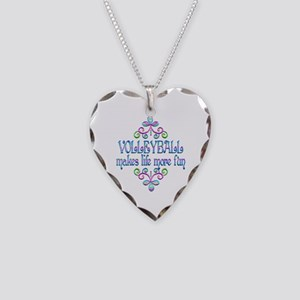 Volleyball Fun Necklace Heart Charm