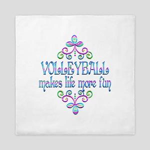 Volleyball Fun Queen Duvet