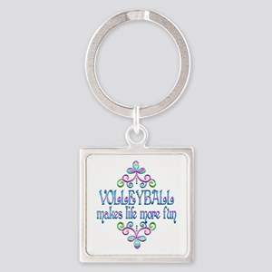 Volleyball Fun Square Keychain