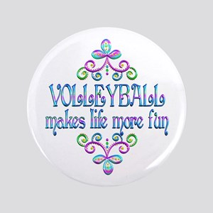 Volleyball Fun Button