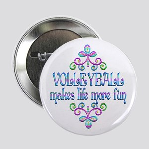 "Volleyball Fun 2.25"" Button"