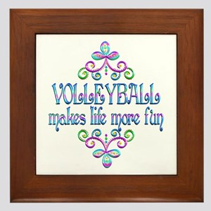 Volleyball Fun Framed Tile