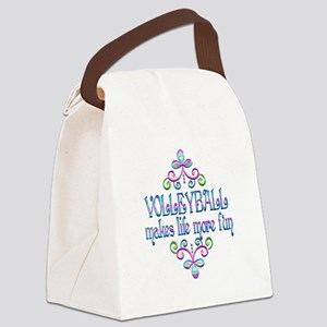 Volleyball Fun Canvas Lunch Bag
