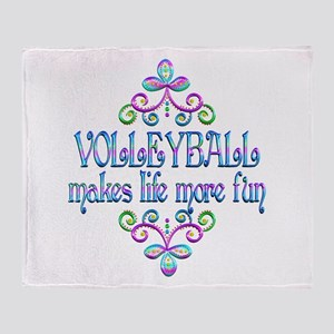 Volleyball Fun Throw Blanket