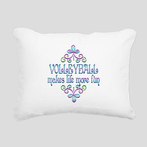 Volleyball Fun Rectangular Canvas Pillow