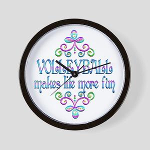 Volleyball Fun Wall Clock