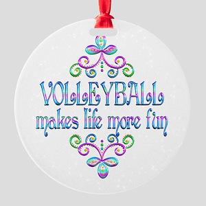Volleyball Fun Round Ornament