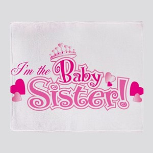 Curly Im The Baby Sister Throw Blanket