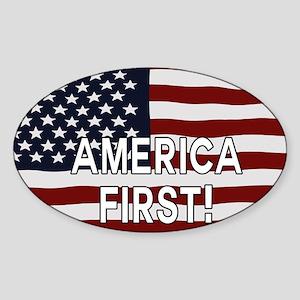 AMERICA FIRST! USA flag Sticker