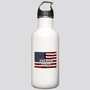 AMERICA FIRST! USA fla Stainless Water Bottle 1.0L