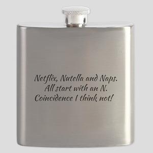 Netflix, Nutella and naps. Flask