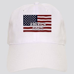 AMERICA FIRST! USA flag Cap
