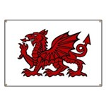 Red Welsh Dragon Banner