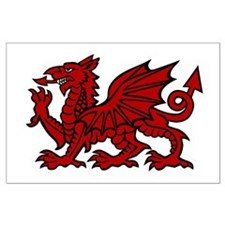 Red Welsh Dragon Large Poster