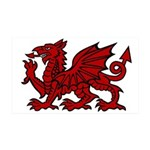 Red Welsh Dragon 35x21 Wall Decal