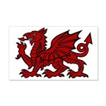 Red Welsh Dragon 20x12 Wall Decal