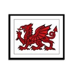 Red Welsh Dragon Framed Panel Print