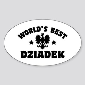 World's Best Dziadek Sticker (Oval)