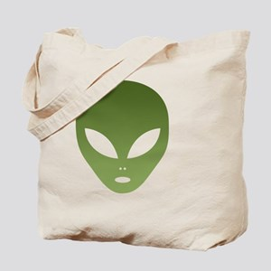 Extraterrestrial Alien Face Tote Bag