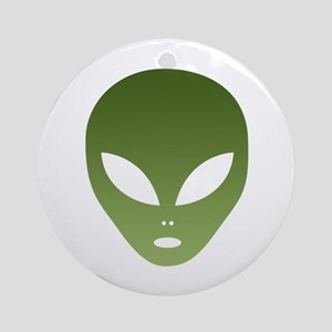 Extraterrestrial Alien Face Round Ornament