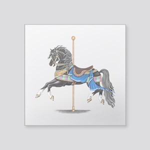 Black Carousel Horse Sticker