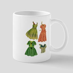 Vintage woman fashion dresses Mugs