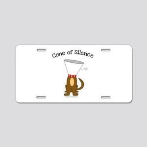 Cone of Silence Aluminum License Plate