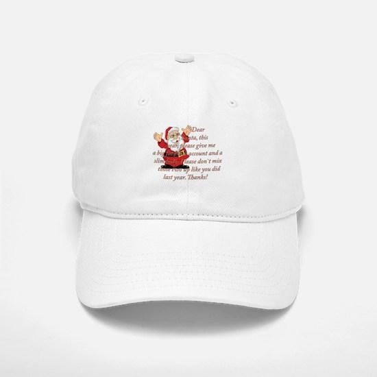 Santa Letter Baseball Baseball Cap