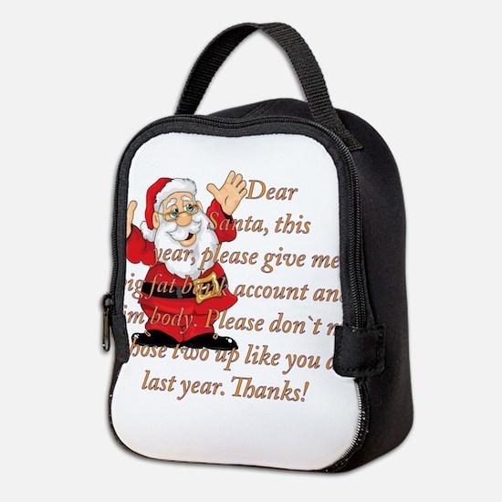 Santa Letter Neoprene Lunch Bag
