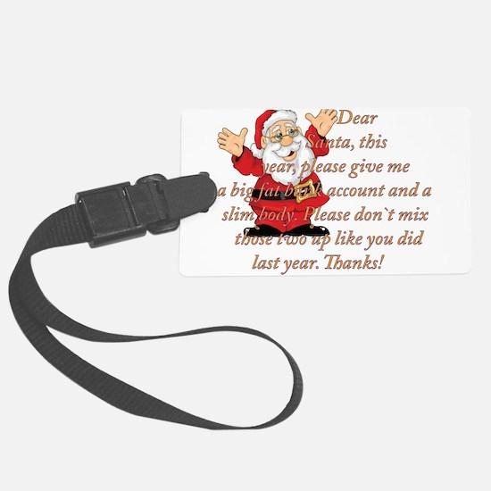 Santa Letter Luggage Tag