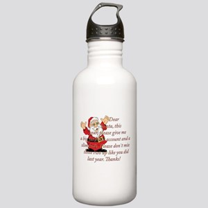 Santa Letter Sports Water Bottle
