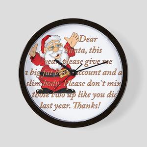 Santa Letter Wall Clock
