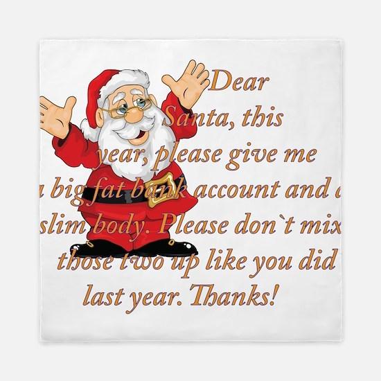 Santa Letter Queen Duvet