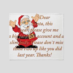 Santa Letter Throw Blanket