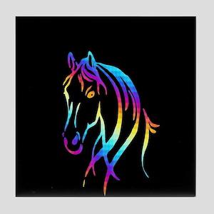 Colorful Horse Tile Coaster
